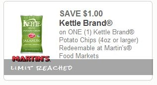 kettle chips coupon $1