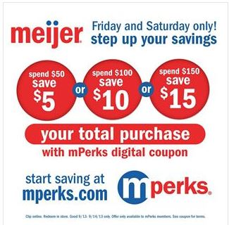 $5 off $50 MPerk