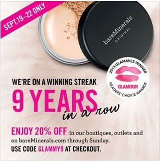 Bare minerals coupon code