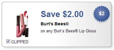Burt's Bees lip gloss coupon