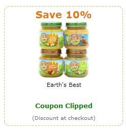 Earth's Best coupon amazon