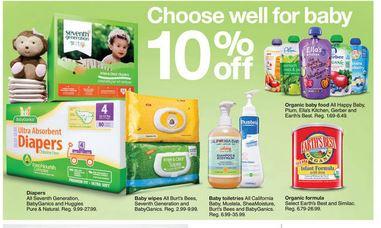 Target organic baby 10$