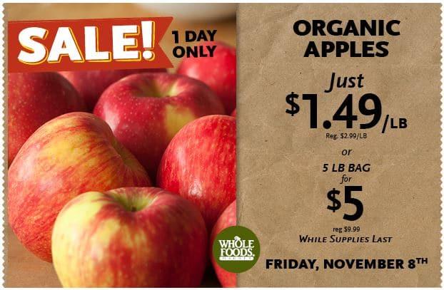 WF $1 a lb apples