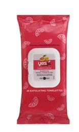 yes to facial towelettes