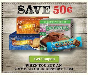 Amy's Kitchen dessert coupon