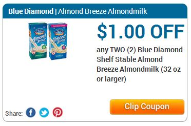 Blue Diamond Almond Milk ~ Only $ at Smith's! Blue Diamond Almond Milk, 32 oz ~ $Wyb 6 participating items through 6/26Buy 2, use $1/2 Blue Diamond Shelf Stable Almond Breeze Almond milk printableOnly $ Each!Select All | Un-Select All Have you seen that show where people shop for groceries and paying next to nothing?.