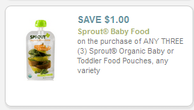 sprout organic baby food coupons