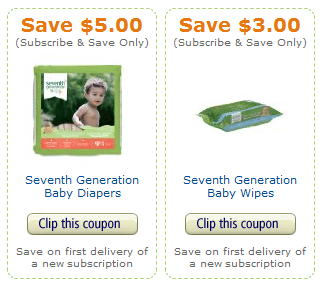 subscribe and save coupons