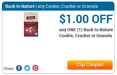 back to nature cookie cracker granola coupon