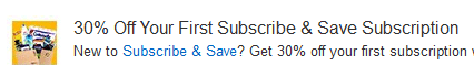subscribe and save coupon code
