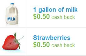 checkout 51 milk and strawberries