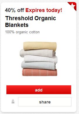 threshold organic blanket coupon