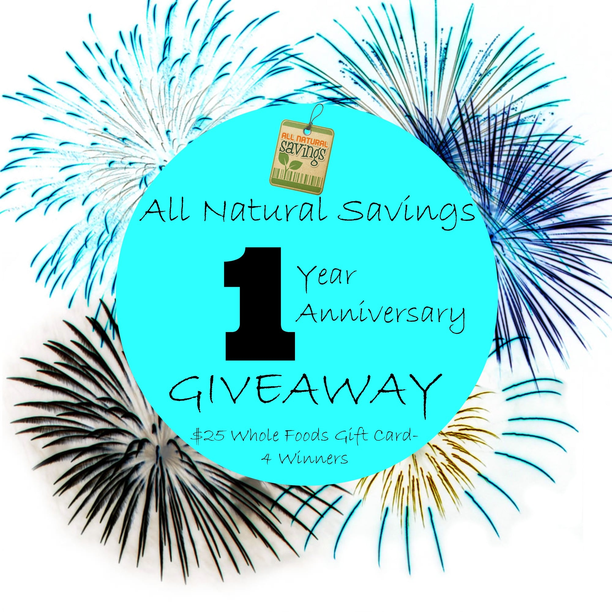 1 Year Anniversary Giveaway: $25 Whole Foods Gift Cards – All ...