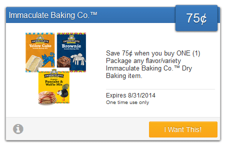 immaculate baking savingstar