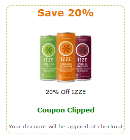 izze coupon
