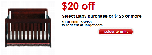 baby purchase target coupon