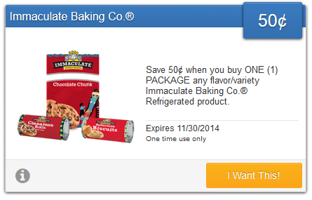 immaculate baking saving star