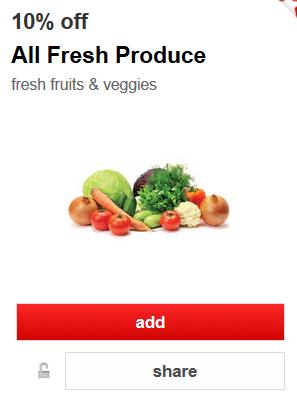 target 10 off fresh produce