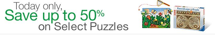 amazon 50 percent off puzzles