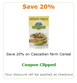 cascadian amazon coupon