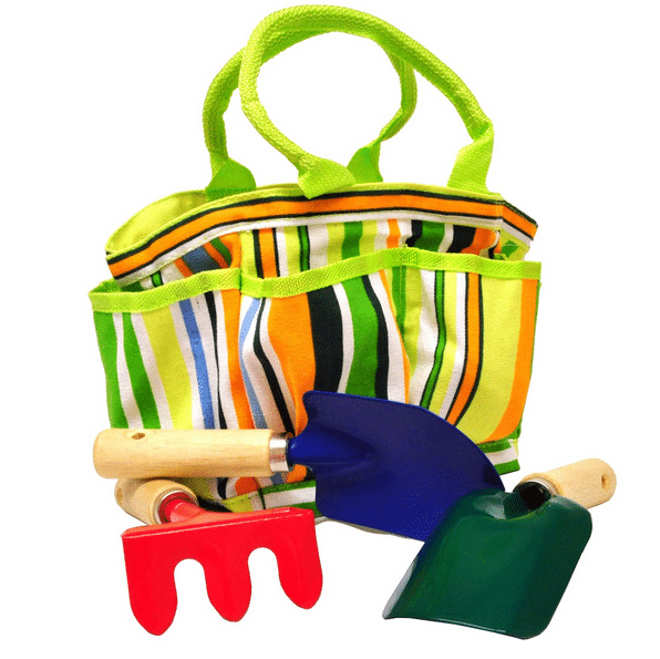 Amazon justforkids garden tool set with tote reg for Aldi gardening tools 2015