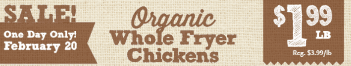 whole foods organic whole chicken sale