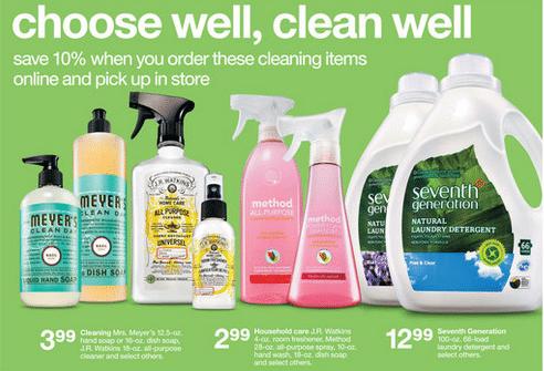 target ad natural and organic coupon matchups