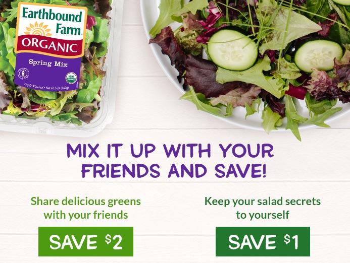Earthbound Farms Organic Salads Earthbound Farm Organic Coupon
