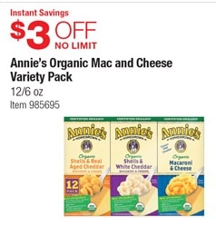 annies costco coupon
