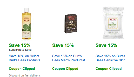 amazon burt's bees coupons