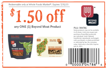 Beyond Meat Whole Foods Coupon