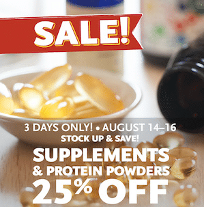 Whole Foods 25 Off Supplements And Protein Powder Sale