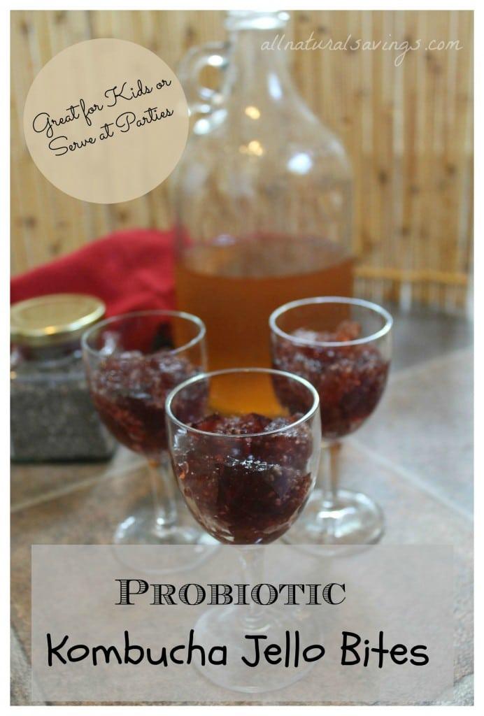 probiotic kombucha jello bites