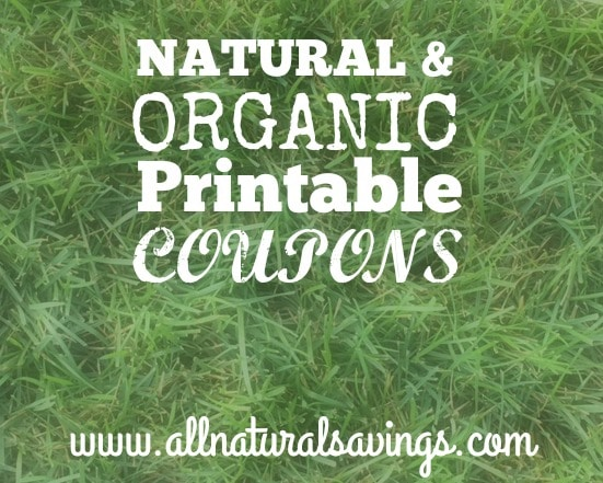 natural and organic printable coupons