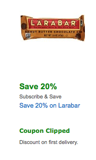 Because Larabar is famous brand of super healthy and super delicious sweets, and because of various Larabar coupons from ChameleonJohn, you will be able to enjoy healthy sweet snacks at the very lowest price there is. In order to get those delicious sweets much cheaper, first, shop for huge numbers of it, and second, use special Larabar coupon.