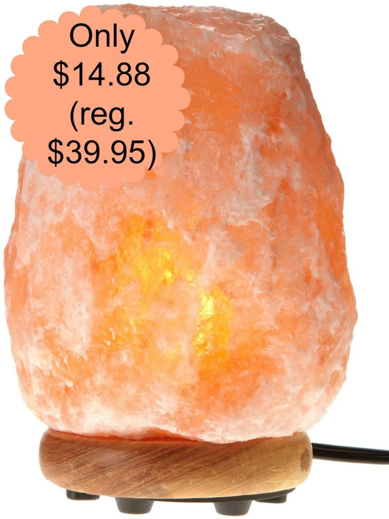 WBM Hand Carved Himalayan Natural Crystal Lamp Bundle USD 14.88 (reg. USD 39.95) All Natural Savings