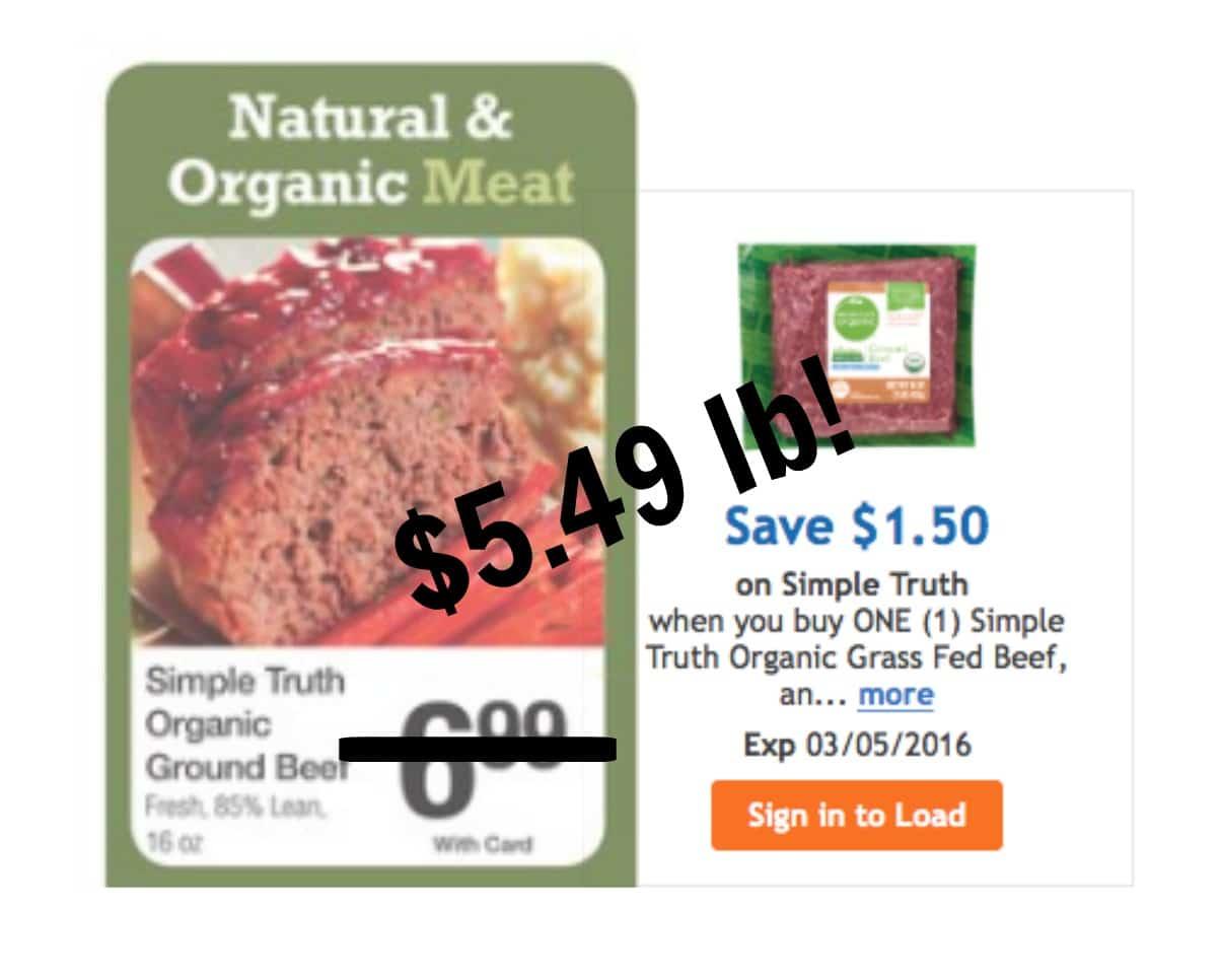 Buy organic beef - Kroger Organic Grass Fed Beef Sale
