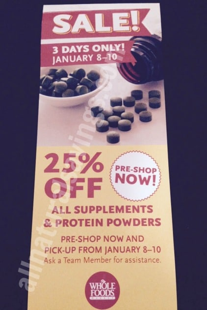 Whole foods 3 day 25 off vitamins supplement and for Gardening naturally coupon