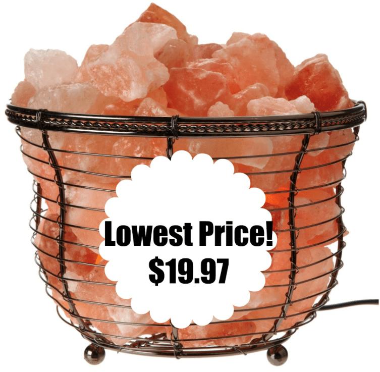Amazon: Himalayan Natural Crystal Basket Lamp Bundle $19.97 ...