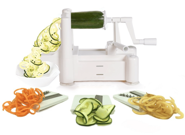 Amazon paderno tri blade vegetable spriralizer - Paderno world cuisine tri blade spiral vegetable slicer ...