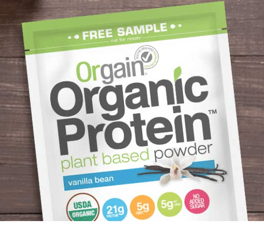 orgain organic protein powder free sample
