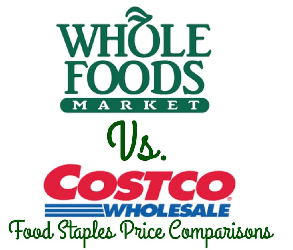 whole foods market compared to costco prices