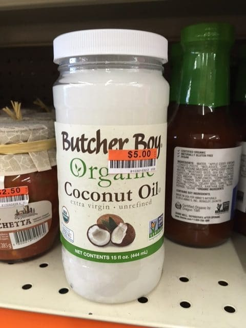 organic coconut oil big lots