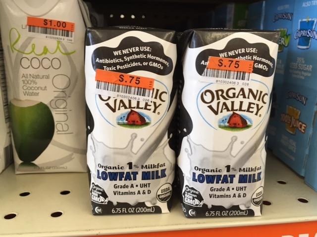 organic valley organic milk big lots