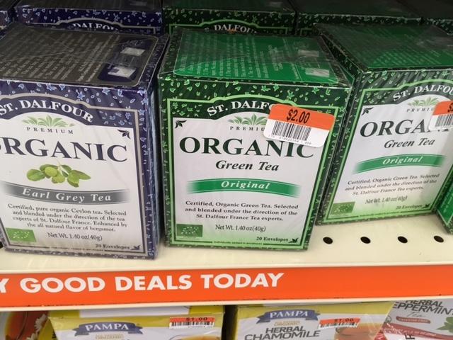 organic tea big lots