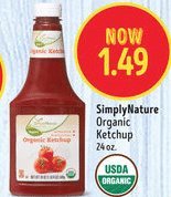 simplynature organic ketchup aldi