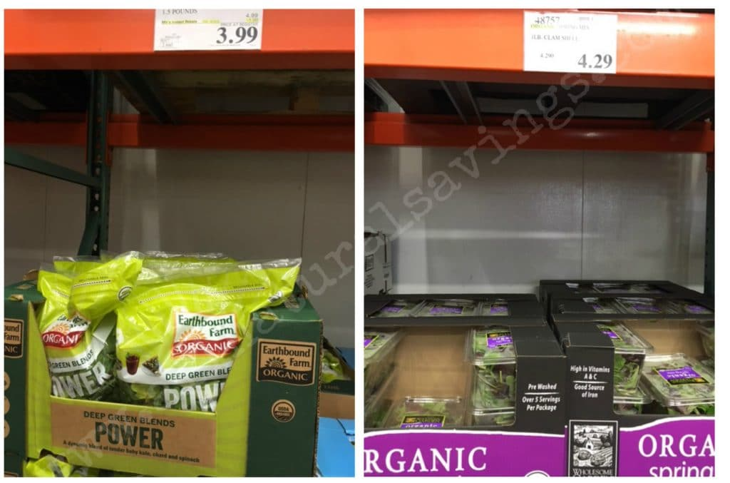 costco organic fruit and vegetables