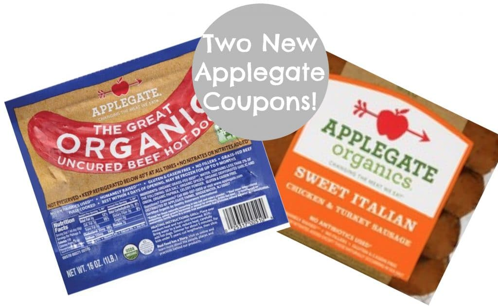 two new applegate coupons