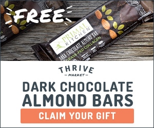 free 6-pack primal kitchen chocolate almond bars with grass-fed