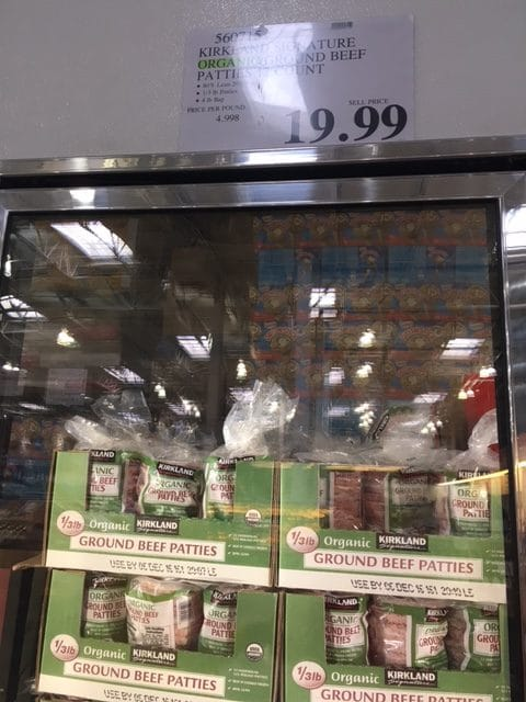 costco hamburger patties organic